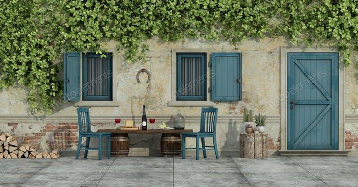 Courtyard of an old country house