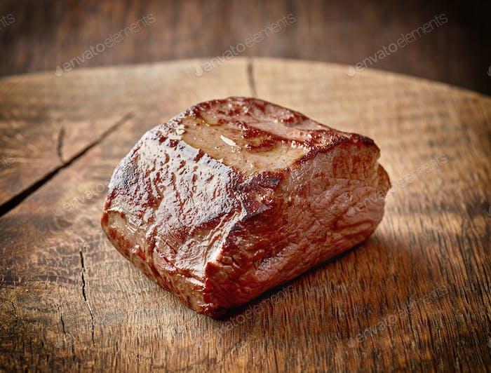 Deer meat steak