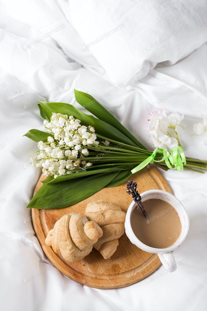 Breakfast in bed Morning