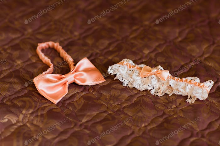 bow tie and  garter