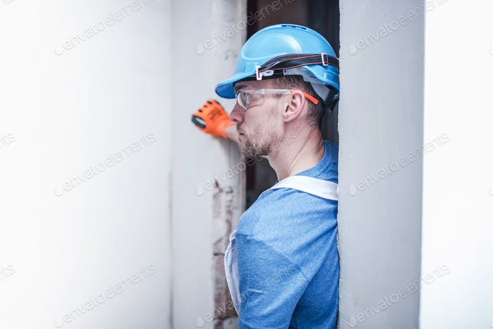 Caucasian Construction Worker
