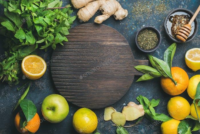 Ingredients for making natural drink