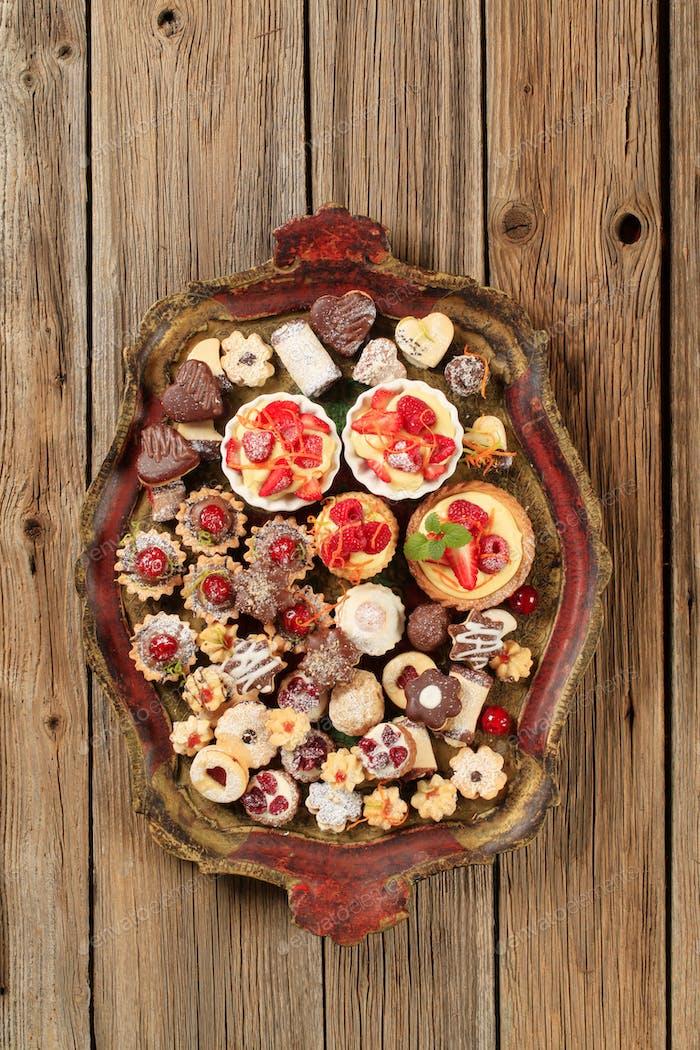 Verschiedene Kekse