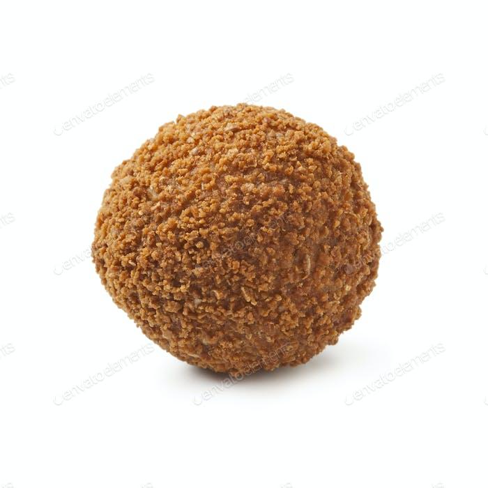 Single dutch traditional snack bitterbal