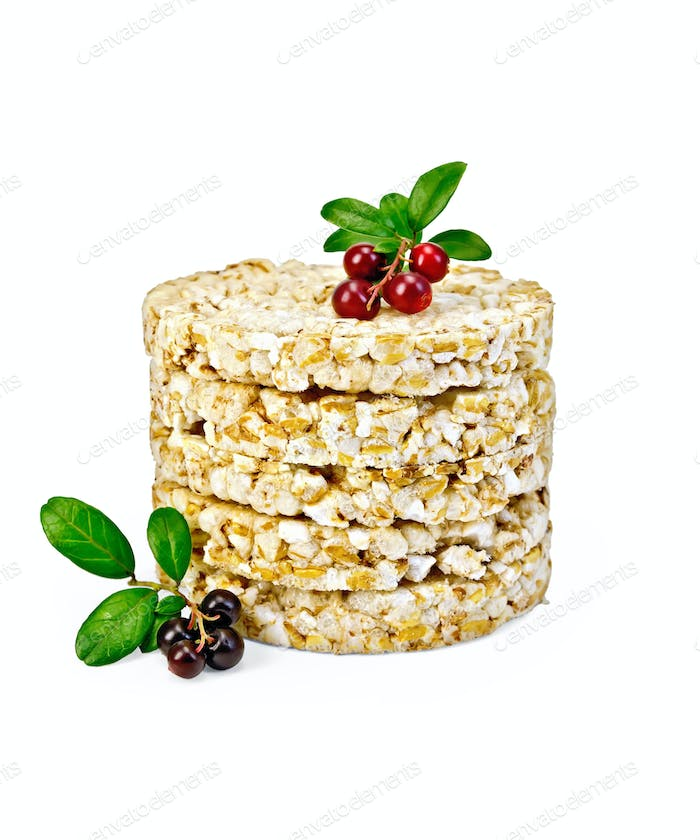 Crispbread with lingonberries