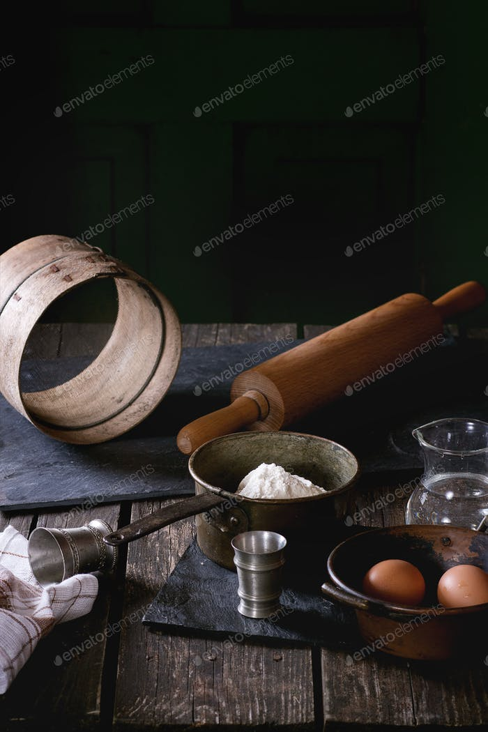 Ingredients for dough making