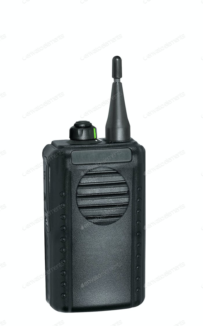 portable radio sets on a white background