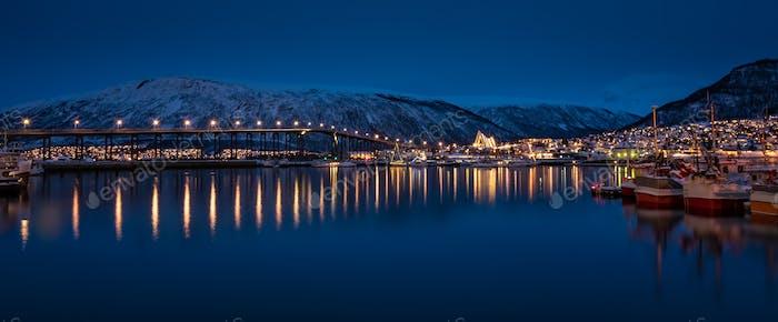 Tromso Bridge across Tromsoysundet strait