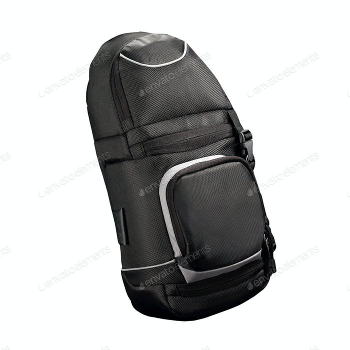 Black Backpack isolated