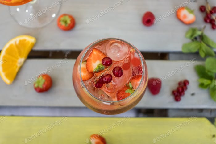 Top View of Fruit Cocktail