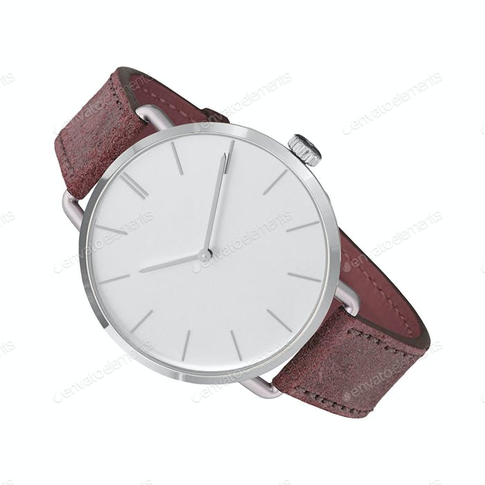 modern watch isolated on a white background