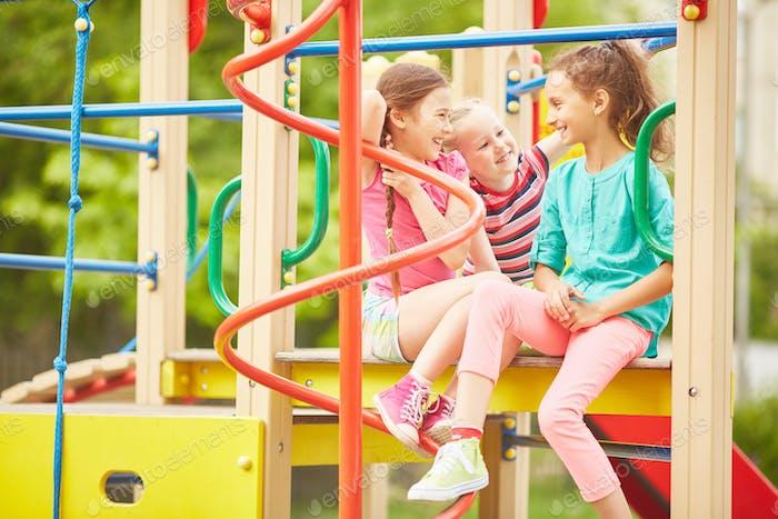 At school playground