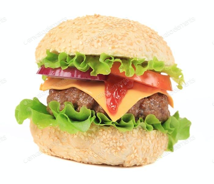 Big hamburger.