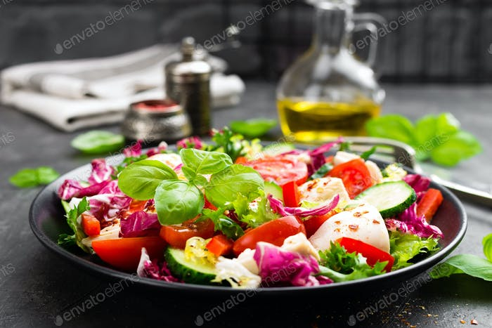 Salad with chicken meat