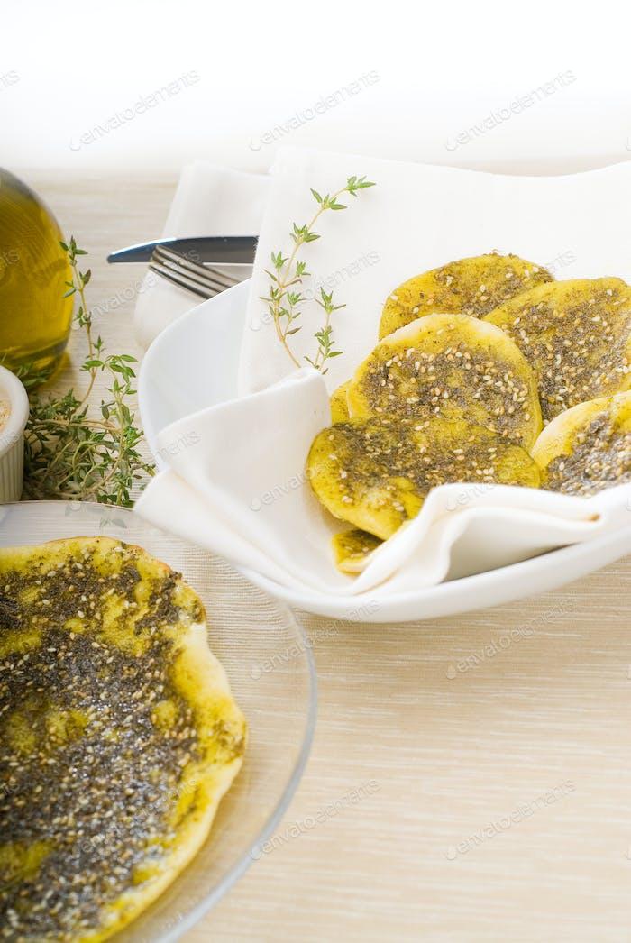 libanesische Manouche oder Manoushe