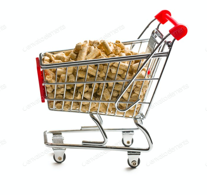 pellets in shopping cart