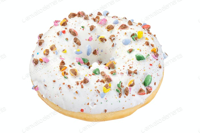 White donut isolated