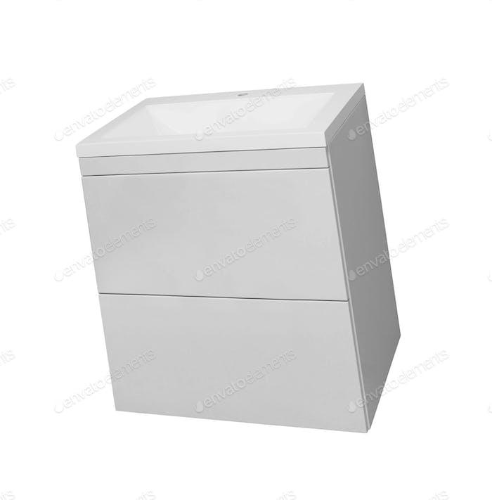 Waschbecken Möbel isoliert auf weiß