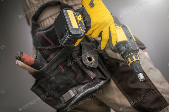 Thumbnail for Contractor with Power Tool