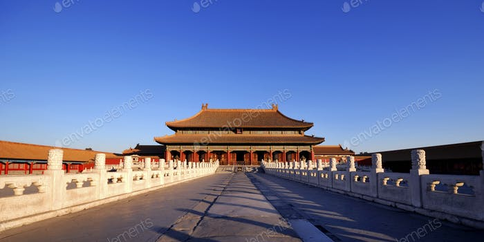 Forbidden City Chinese Culture Ancient Concept
