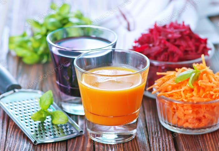 juice in glases