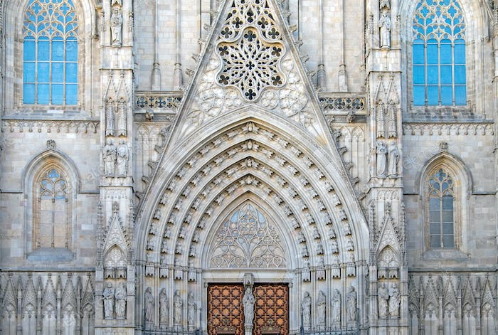 Detail of the Cathedral, Barcelona