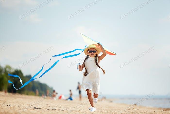 Running with kite