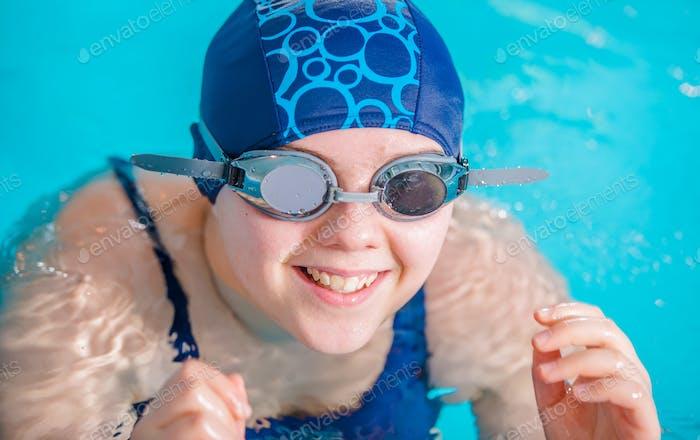 Girl in the Swimming Pool