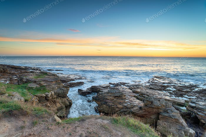 Rugged Coast in Howick in Norhtumberland