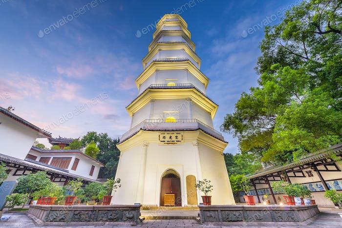 Fuzhou, Fujian, China an der Weißen Pagode