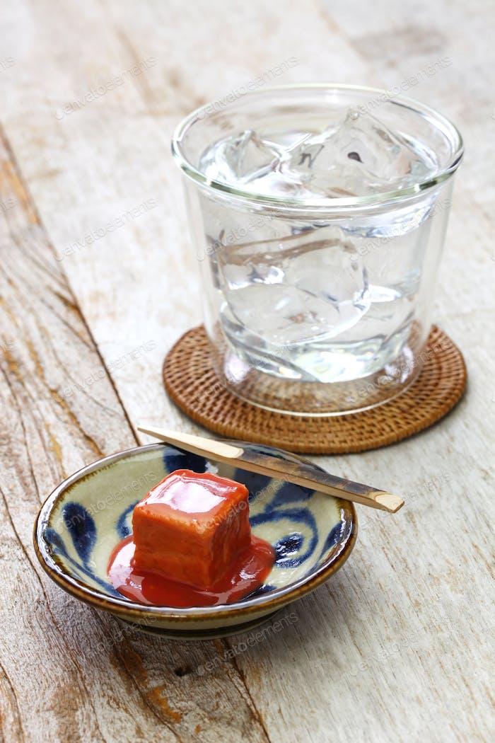 tofuyo, fermented tofu, japanese okinawa delicacy food