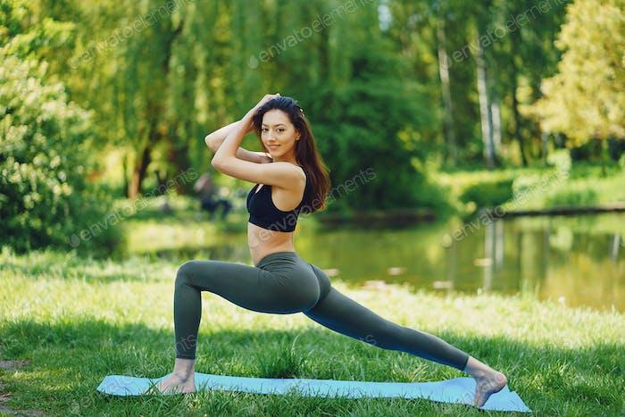 girl practicing yoga