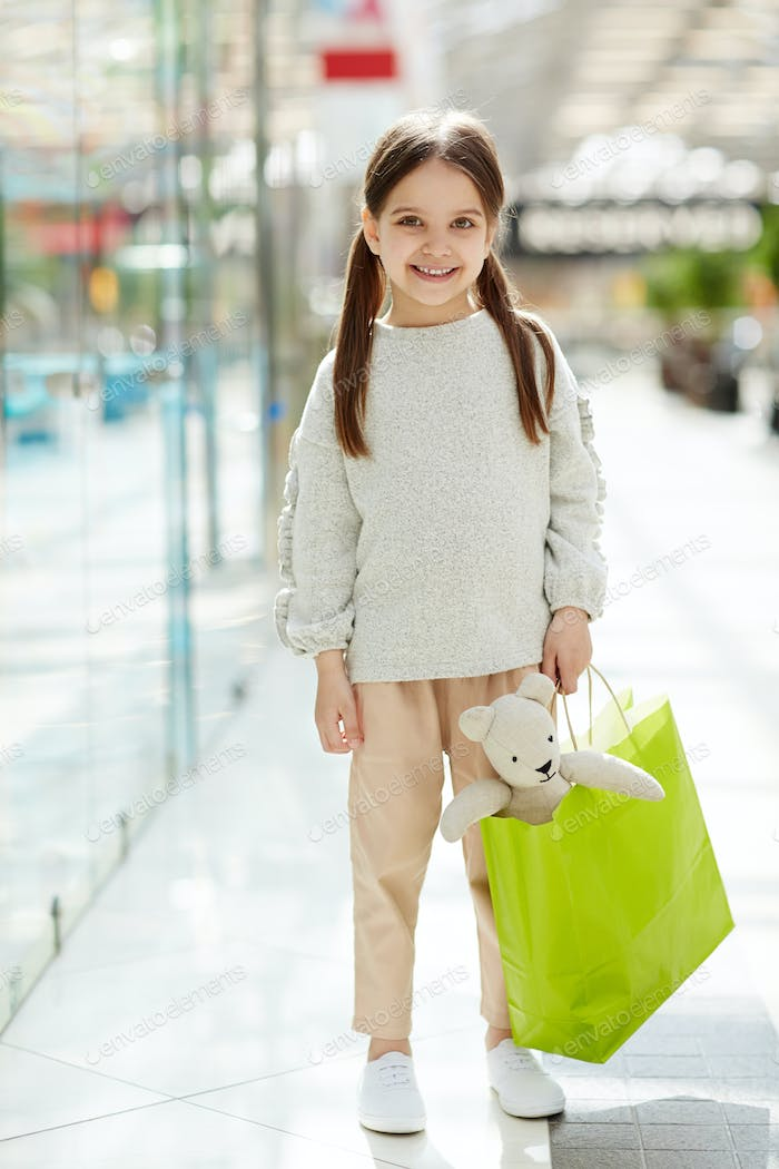 Shopper with toy
