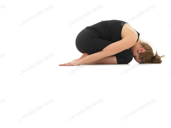 relaxing yoga posture