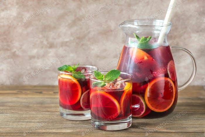 Spanische Frucht Sangria