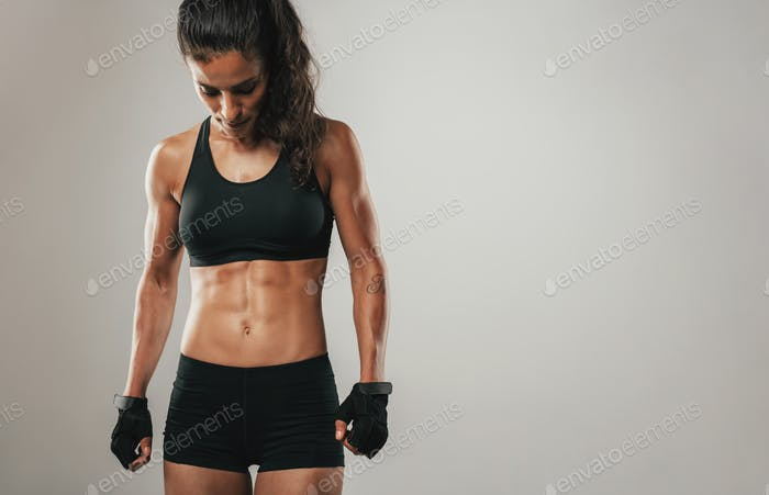 Fit healthy young female athlete