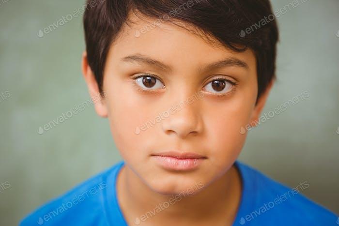 Close up portrait of cute little boy