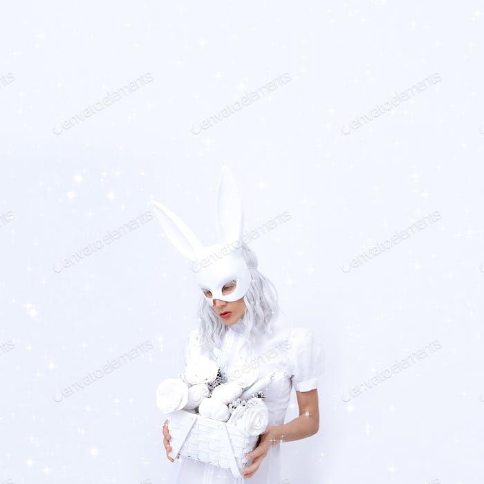 Mode Magie Kaninchen Mädchen