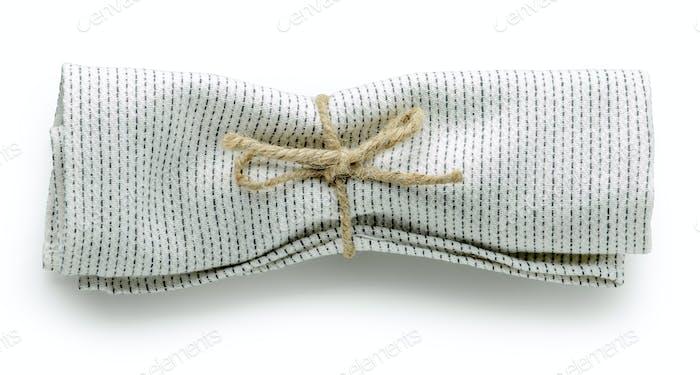 folded cotton napkin