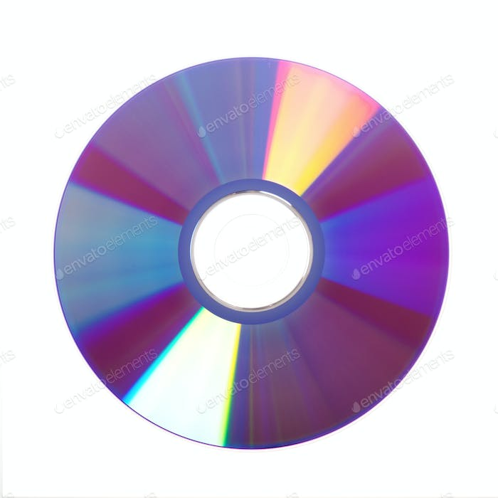 Dvd disc isolated