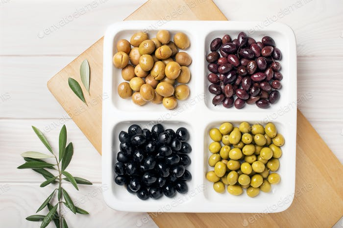 Variety of olive appetizer