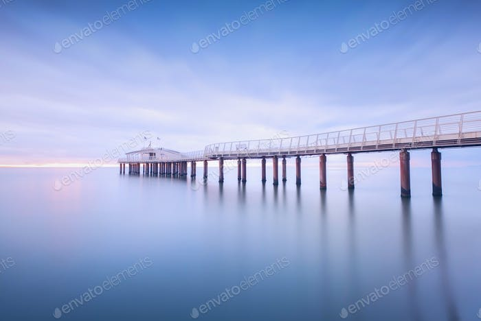 Pier weiches Wasser lange Exposition Lido Camaiore versilia Toskana Ita