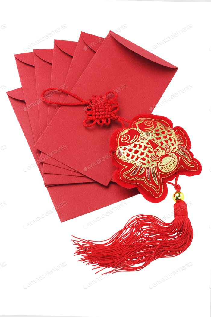 Auspicious Fish Ornament And Red Packets