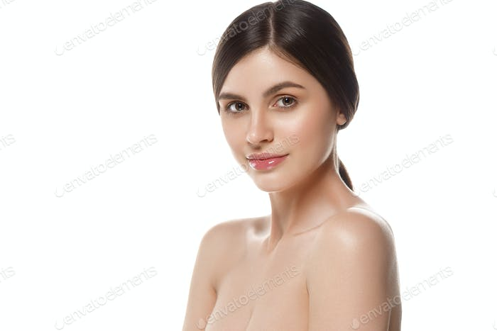 Woman cosmetic clean skin spa beauty portrait