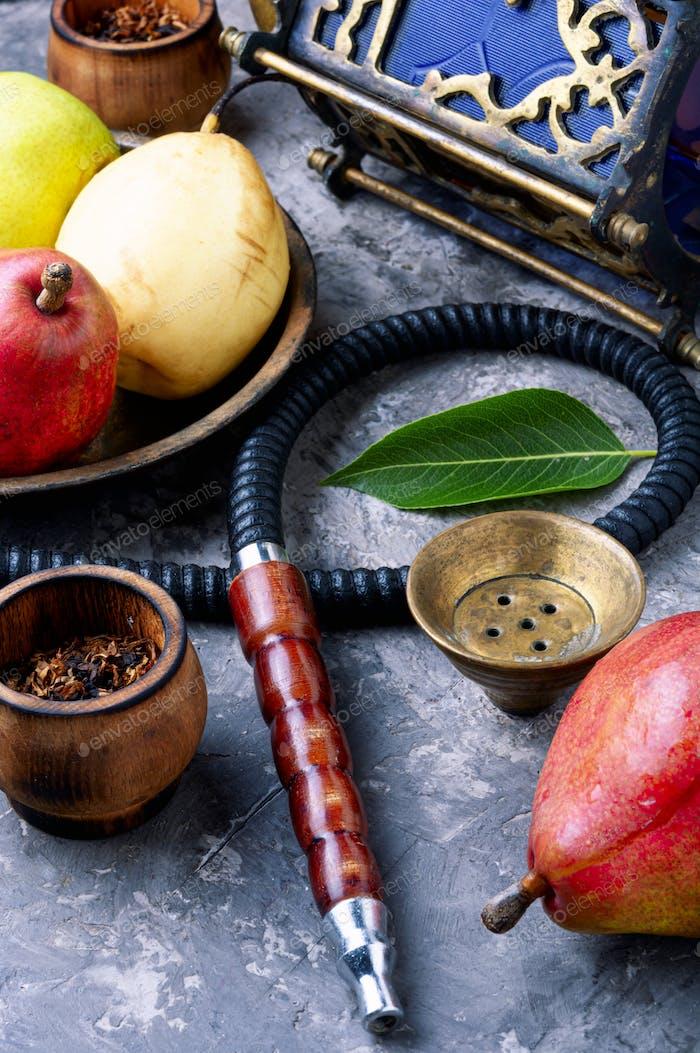 Turkish shisha with pear tobacco