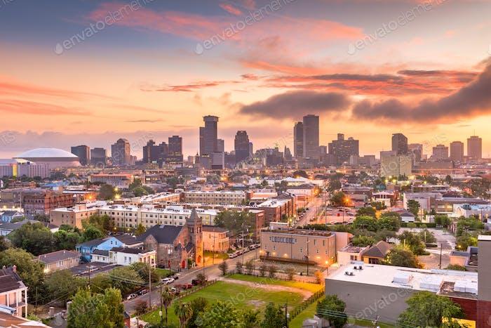 New Orleans, Louisiana, USA downtown skyline