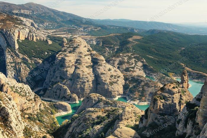 Vadiello reservoir in Guara Natural Park, Huesca, Spain