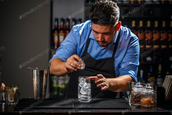 Bartender  is working