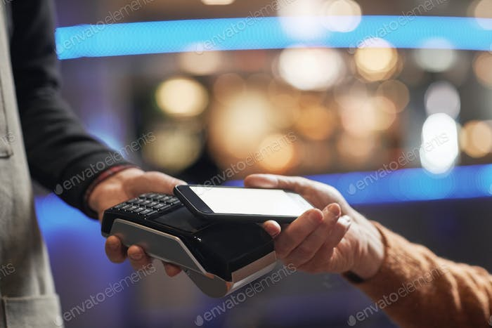 Male Client Paying with Credit Card