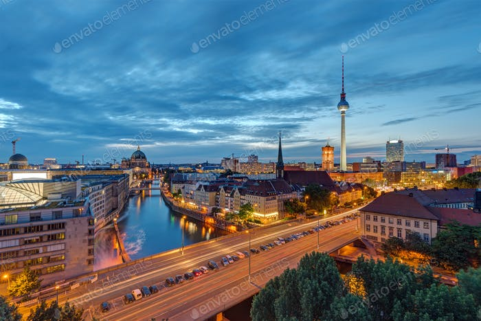 Downtown Berlin with the famous Television Tower